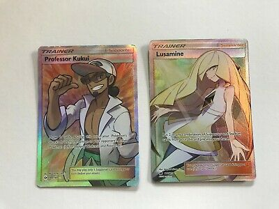 Pokemon Card Lusamine TR 054-054-SM10B-B Japan