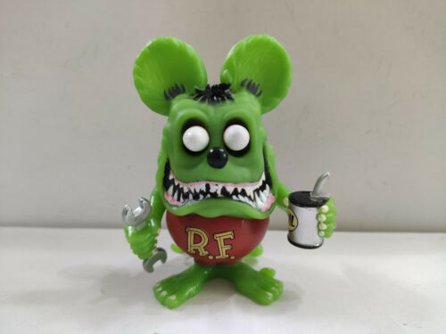 """Green RAT FINK Oil rat with spanner """"Daddy"""" Ed  Roth Action Figure"""