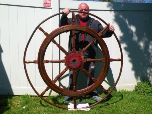 Antique Maritime Nautical Ships Wheel  Can Assist Shipping
