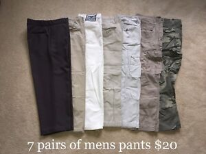 7 mens pants $20 firm for all