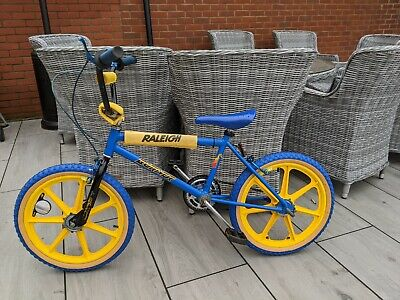 RALEIGH MAG BURNER BMX MK2 Oval Competition simplex mag wheels blue and yellow