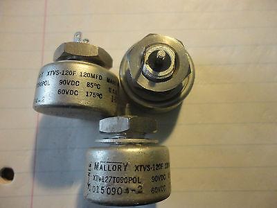 Mallory Xtv127t090pol 120uf-90v High Temp. Wet-slug Solid Tantalum Capacitor