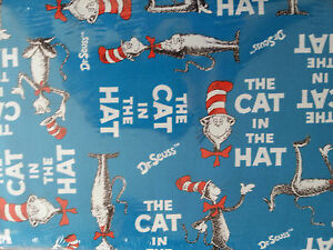 Brand New Dr Suess The Cat In The Hat Print Fabric
