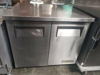 True Tuc-36 Double 2 Door Under Counter Refrigerator - Works Great