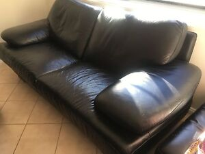 Black Leather lounge Grays Point Sutherland Area Preview