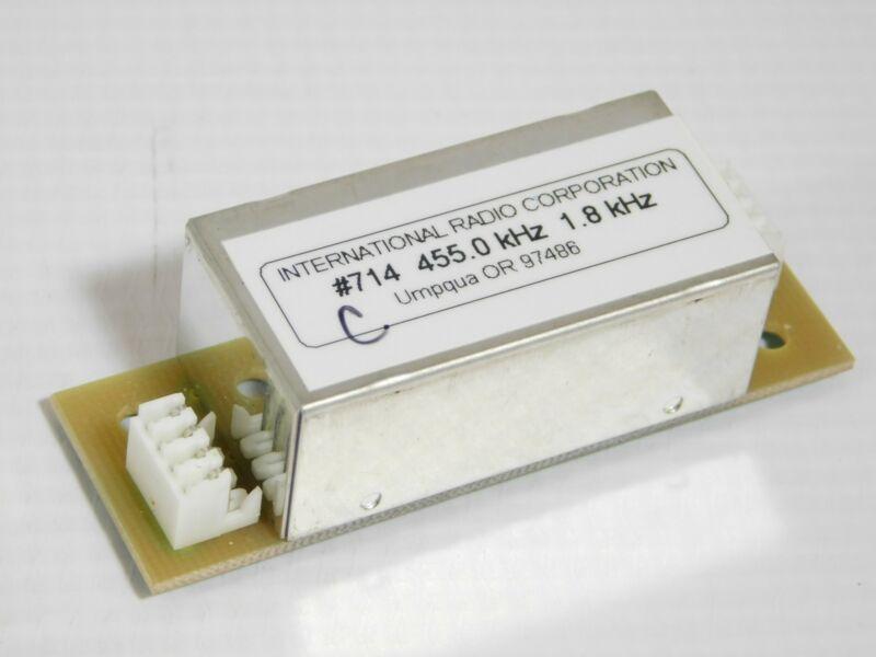 Inrad 714 455kHz 1800Hz SSB Mechanical Filter for Yaesu FT-1000MP (tested)