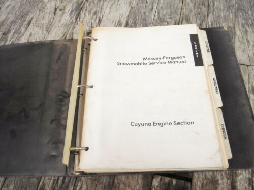 VINTAGE MASSEY FERGUSON SNOWMOBILE SERVICE MANUAL 1976 CYCLONE WHIRLWIND CHINOOK