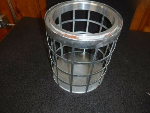 """NEW 5RWL8 Side Square Perforations Suction Strainer, Steel, 11"""" Dia (B)"""