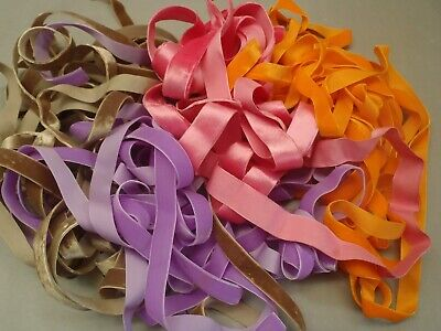 Orange ribbon UNUSED French narrow ribbon on original reel