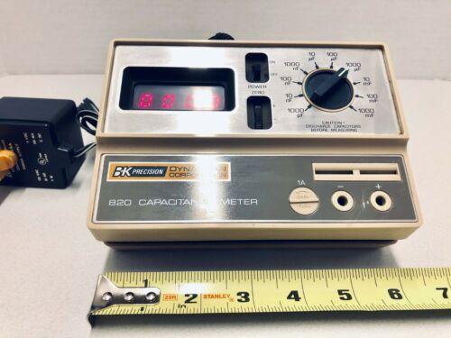 BK Precision DYNASCAN 830 Capacitance Meter Power Plug Measuring Probe Indicator