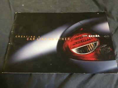 2000 Nissan Maxima Full Line USA Market Color Brochure Catalog Prospekt