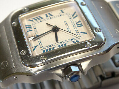 Mid-Size Cartier Santos Galbee 29mm S/S Date Watch Ref. 1564 with Cartier Box