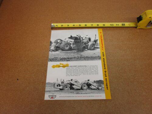 1964 ? Wabco LeTourneau Westinghouse D Tournapull scraper sales brochure 4 pg
