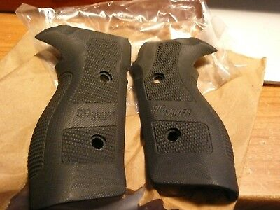 Factory Sig Sauer P227 G 10 Black Grips With Sig Logo Made By Hogue For Sig