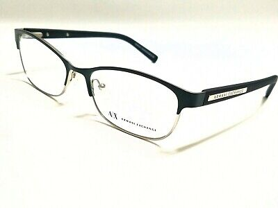New Authentic ARMANI EXCHANGE AX1010 6051 Green/Silver 53/16/140 RX Eyeglasses