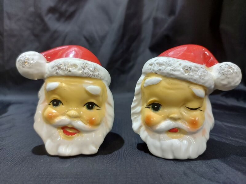 Vintage Collection Salt and Pepper Shakers Santa Clause Head