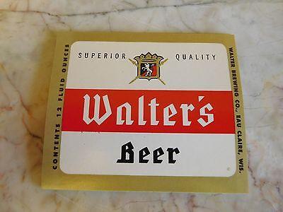 25 Vintage Walter Brewing Beer Labels Eau Claire, Wisconsin