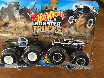 Hot Wheels Monster Trucks Demolition Doubles Police And Hooligan