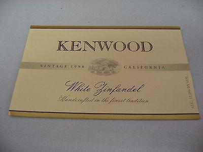 Wine Label: KENWOOD 1998 White Zinfandel California ()