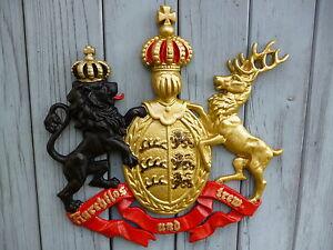 Wappen Königreich Württemberg lackiert  Handbemalung TOP Silizium Guss