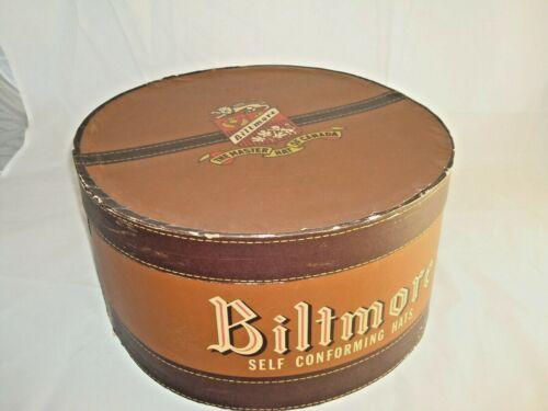 VINTAGE BROWN BILTMORE HAT BOX