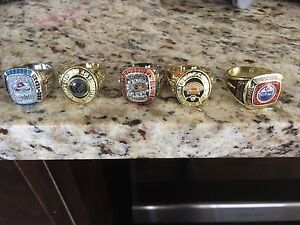 Five Molson NHL Stanley Cup rings
