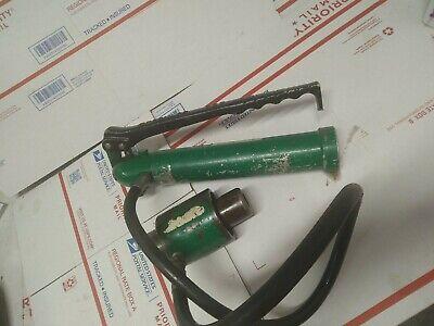 Greenlee 767 Hydraulic Hand Pump W 746 Ram Good Deal Ed4u 9031
