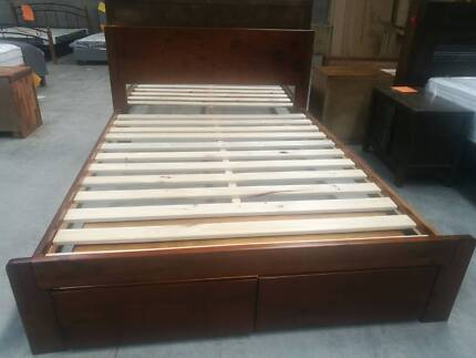 NZ Pine Bed Frame and Accessories   Beds   Gumtree Australia Port ...