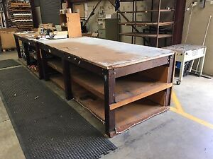 Solid Hardwood Timber Workbench Work Bench Garage Shed Balcatta Stirling Area Preview