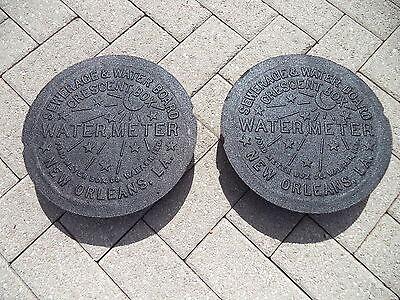 2 New Orleans ORIGINAL French Quarter NOLA Cast Iron Water Meter Box Cover NCIS