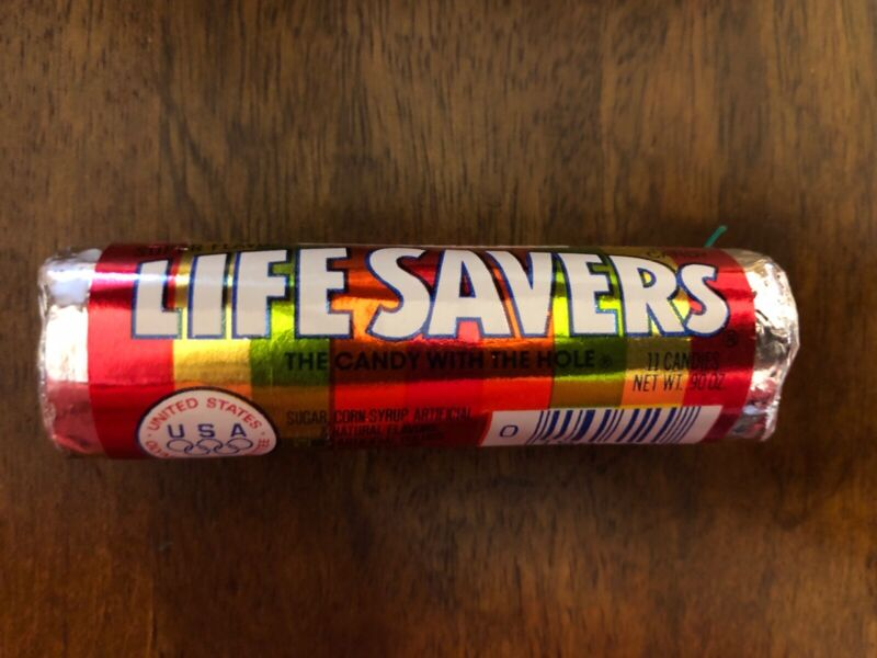RARE Sealed Vintage Life Savers Five Flavors Hard Candy ORIGINAL Olympic NOS