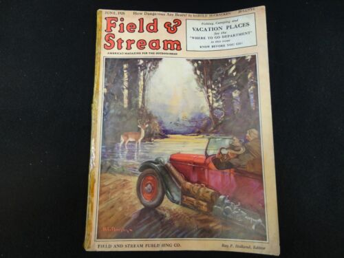 Field and Stream Magazine June 1928 Vintage Issue- Free Shipping!