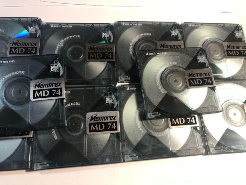 10 Memorex MD 74 .  10 Original Mini Discs.