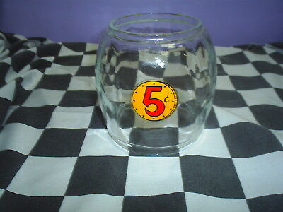 New old stock OEM Glass Globe for Bantam  Glass globe with 5 cent decal
