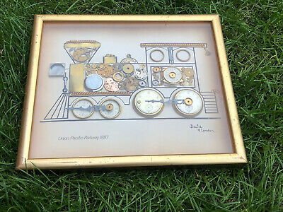 Union Pacific Railway Made By David of London Clock Parts FRAMED PICTURE