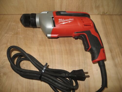 "Milwaukee 0240-20 Electric Drill 3/8"" With Keyless Chuck"