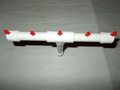 Aeroponic Hydroponic Cloner 5 Mister Water Spray Bar Manifold EZ Clone Cloner