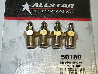 Brake Caliper Bleeder Fitting Screw 18 NPT  Set of 4 All50180