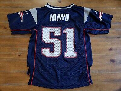 Reebok Jerod Mayo 51 New England Patriots Youth Medium 5/6 Jersey Blue NFL  Mayo Youth Jersey
