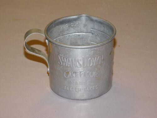 Vintage Swans Down Cake Flour Advertising Measuring Cup Aluminum