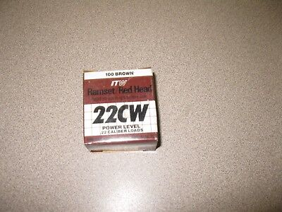 Itw 00594 .22 Caliber Brown Ramset Powder Single Load 22cw 100-ct