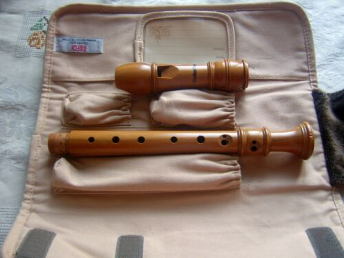 Wooden Mollenhauer Dolce II Soprano Descant  Recorder, Baroque, No Signs of Use