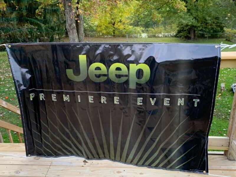 JEEP PREMIER EVENT Advertising Dealer Banner Poster Sign 5' By 4' Jeep Chrysler