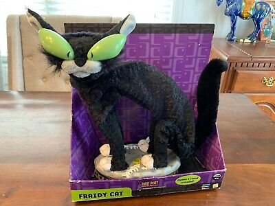 Black Cats Halloween Song (Genmy Fraidy Cat New In Box Animated Halloween Black Cat Moves Lights Song HTF!)
