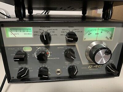 R L Drake R-4C Ham Radio Receiver with Manual, Not Fully Tested, Very Clean!