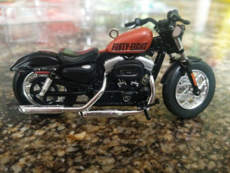 Harley-Davidson Christmas Ornament 2015 Hallmark 2014 Sportster Forty-Eight