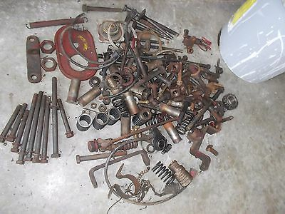 Farmall H A C B 560 Tractor Ih Box Of Misc Bolts Nuts Parts Pieces Springs Ihc