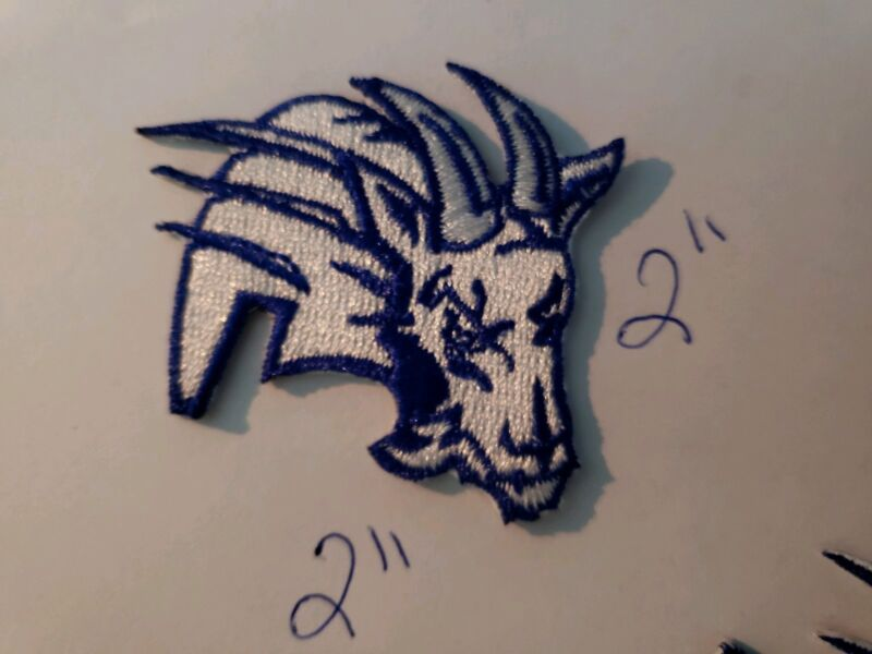 """BLUE MOUNTAIN STATE """"BMS"""" IRON ON PATCH 2""""×2"""" (2 FOR $5)"""