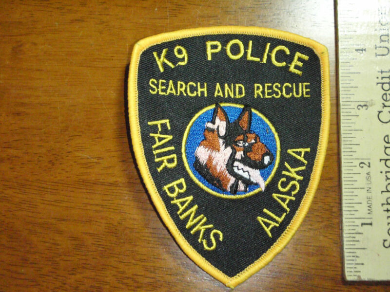 FAIRBANKS ALASKA POLICE DEPARTMENT K-9 UNIT SEARCH AND RESCUE POLICE K-9 BX12#21