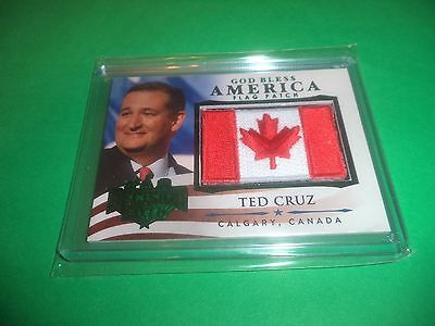 Decision 2016 Series 2 Green Foil God Bless America Flag Patch Ted Cruz Gba47
